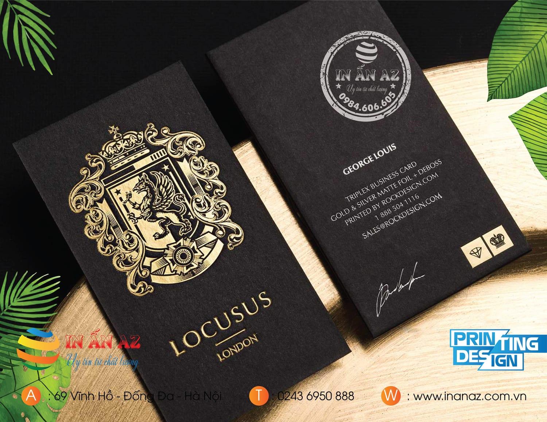 Mẫu card visit in trên giấy mỹ thuật ấn tượng tại In ấn AZ