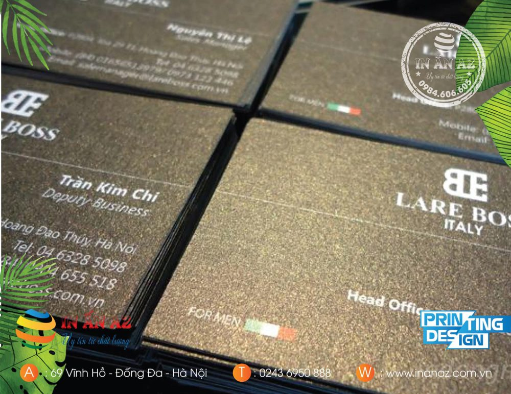 Mẫu card visit của khách hàng Trần Kim Chi in trên giấy mỹ thuật