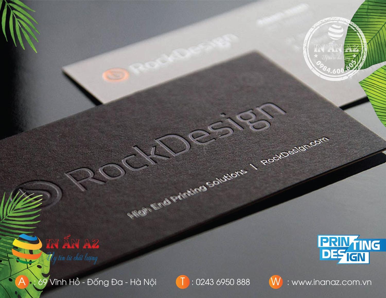 Dịch vụ in card visit giấy mỹ thuật tại In ấn AZ
