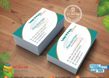 Mẫu card visit nhựa của khách hàng Phạm Đình Thiện được thiết kế và in tại In ấn AZ