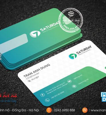 Mẫu card visit nhựa bền, đẹp