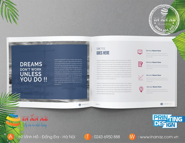 Mẫu Catalogue đẹp được làm tại In ấn AZ