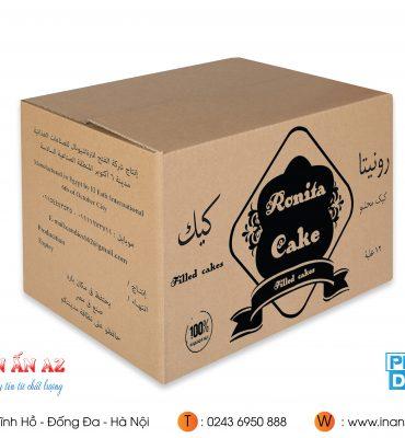 Mẫu hộp carton của Ronita Cake