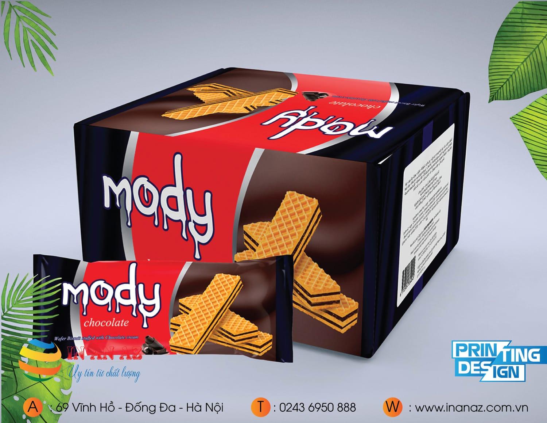Mẫu hộp carton bánh Mody