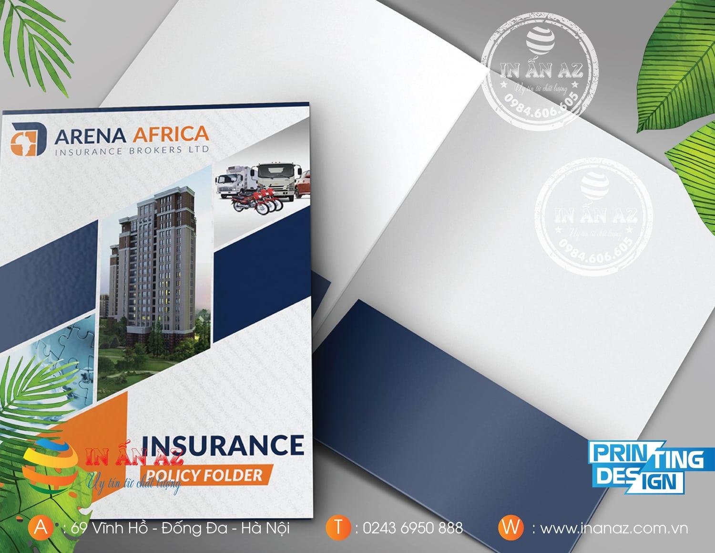 Mẫu kẹp file của Arena Africa thiết kế và in tại In ấn AZ