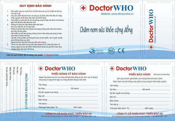 Mẫu phiếu bảo hàng của đơn vị Doctor WHO