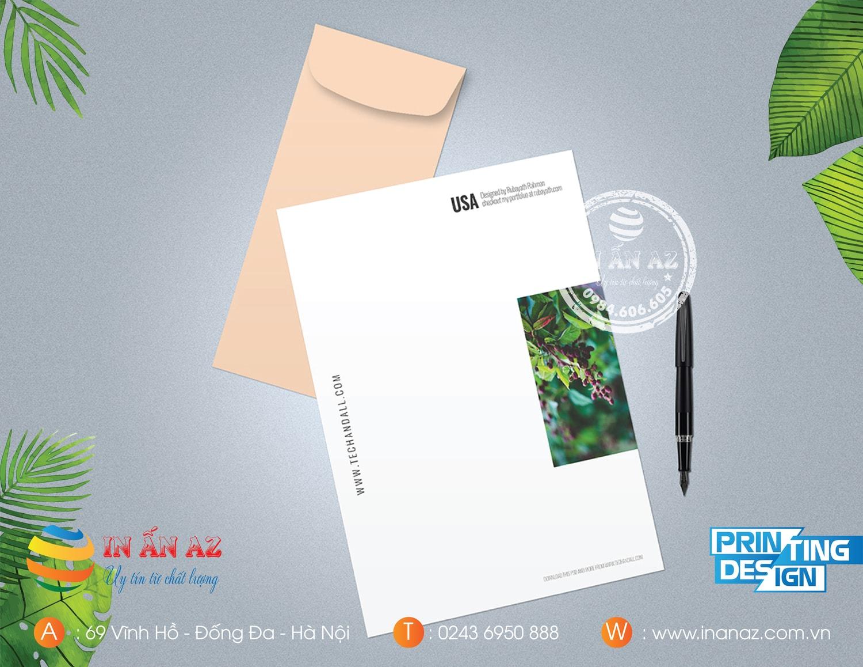 kích thước bìa thư