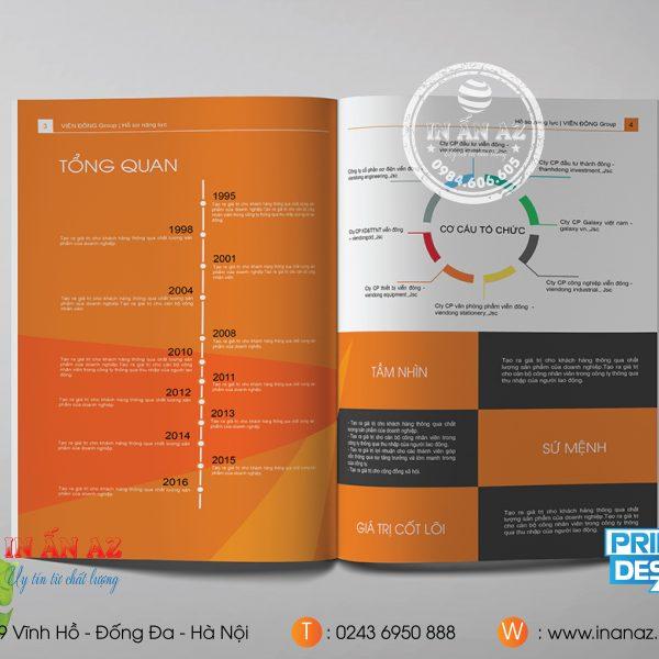 Dịch vụ thiết kế, in profile chất lượng cao giá rẻ- In ấn AZ