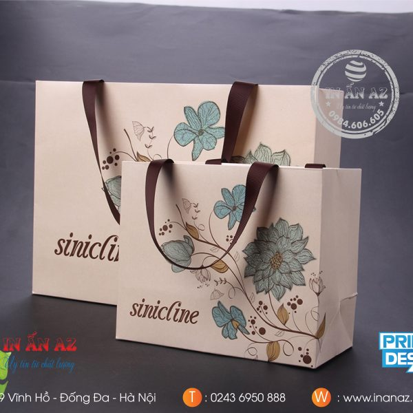 Mẫu túi giấy in Sinicline