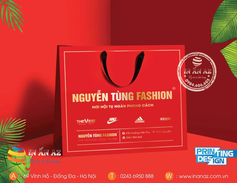 Mẫu túi giấy Nguyễn Tùng Fashion