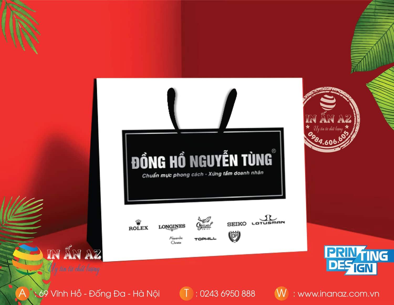 Mẫu túi giấy Đồng hồ Nguyễn Tùng