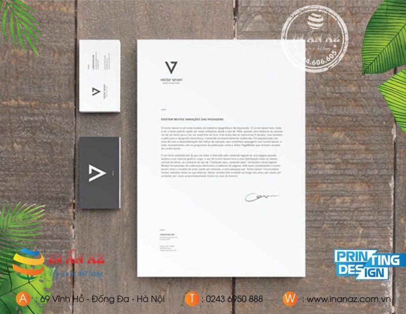 Mẫu tiêu đề thư được thiết kế và in tại In ấn AZ