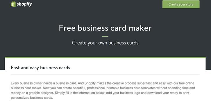 Phần mềm thiết kế Free Business Card Maker