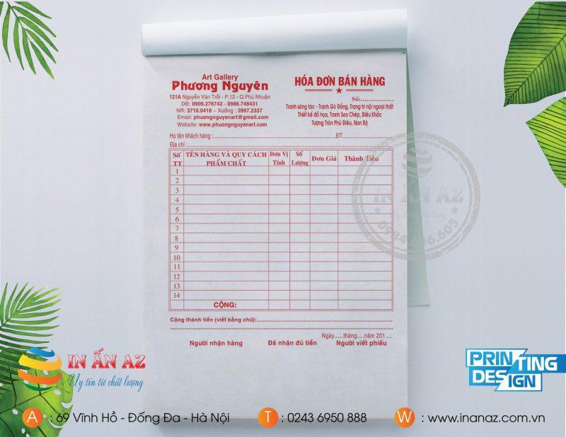 Mẫu hóa đơn bán hàng Phương Nguyên
