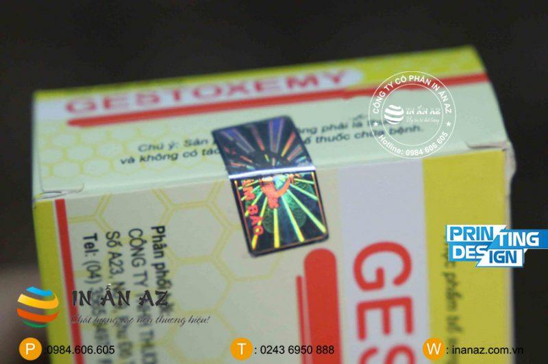 In tem niêm phong tại in ấn AZ