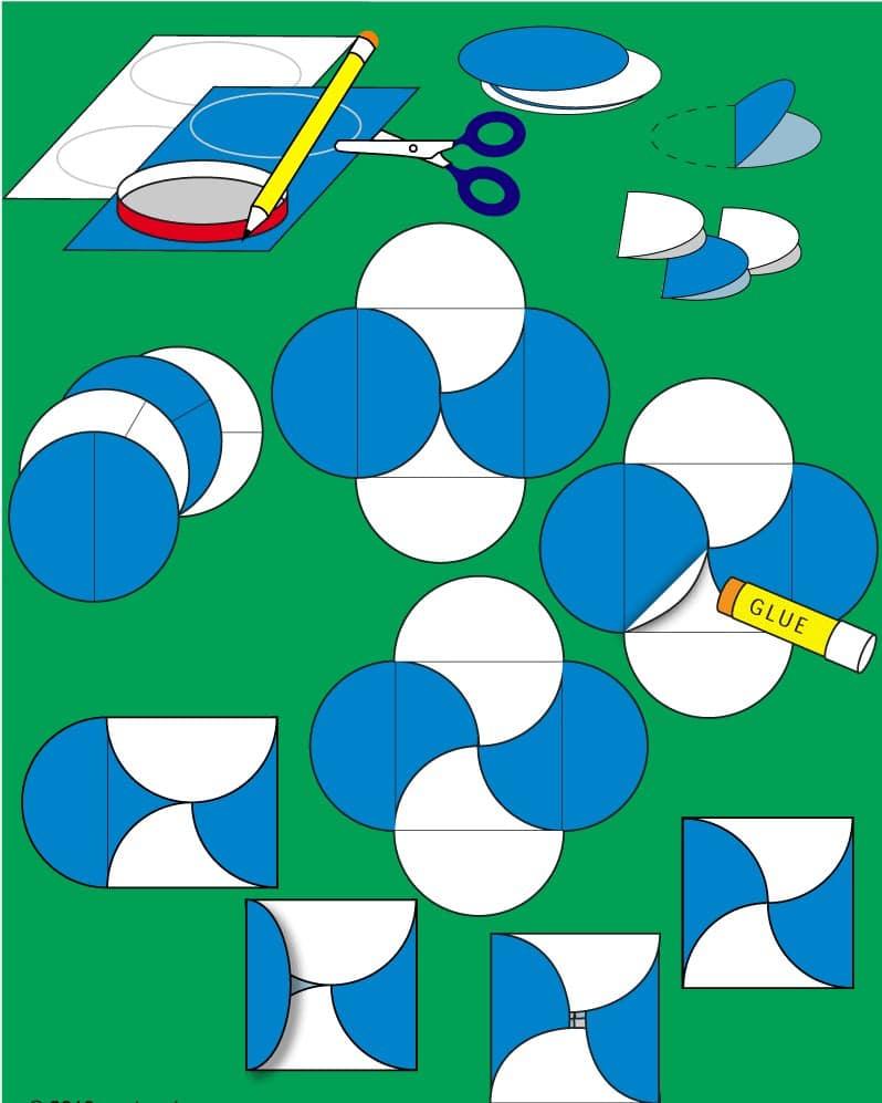 Cách làm phong bì từ hình tròn