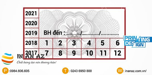 ngày tháng trên tem bảo hành