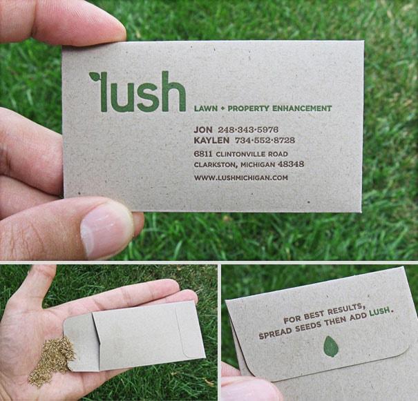 Mẫu card visit đơn vị kinh doanh hạt giống