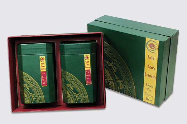 Mẫu hộp cứng đựng trà Lộc Tân Cương