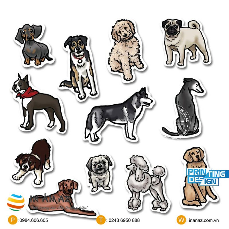 sticker dog đẹp