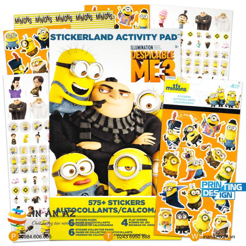 mẫu sticker minion