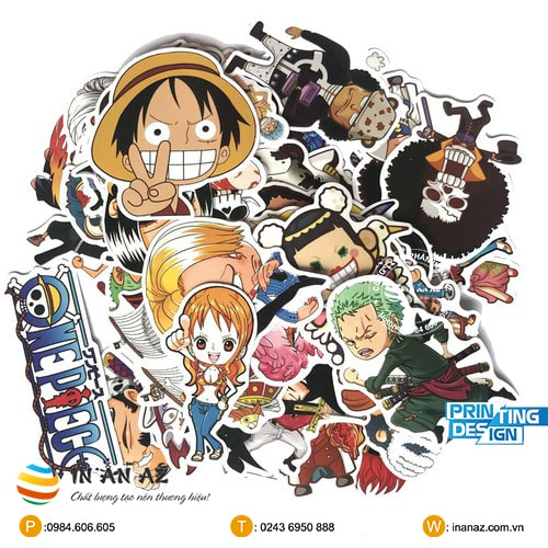 one piece sticker đẹp