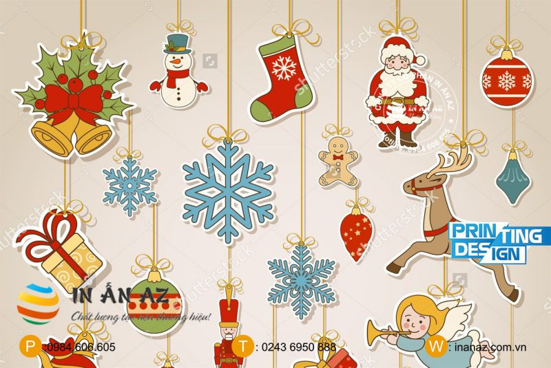 sticker snow merry christmas