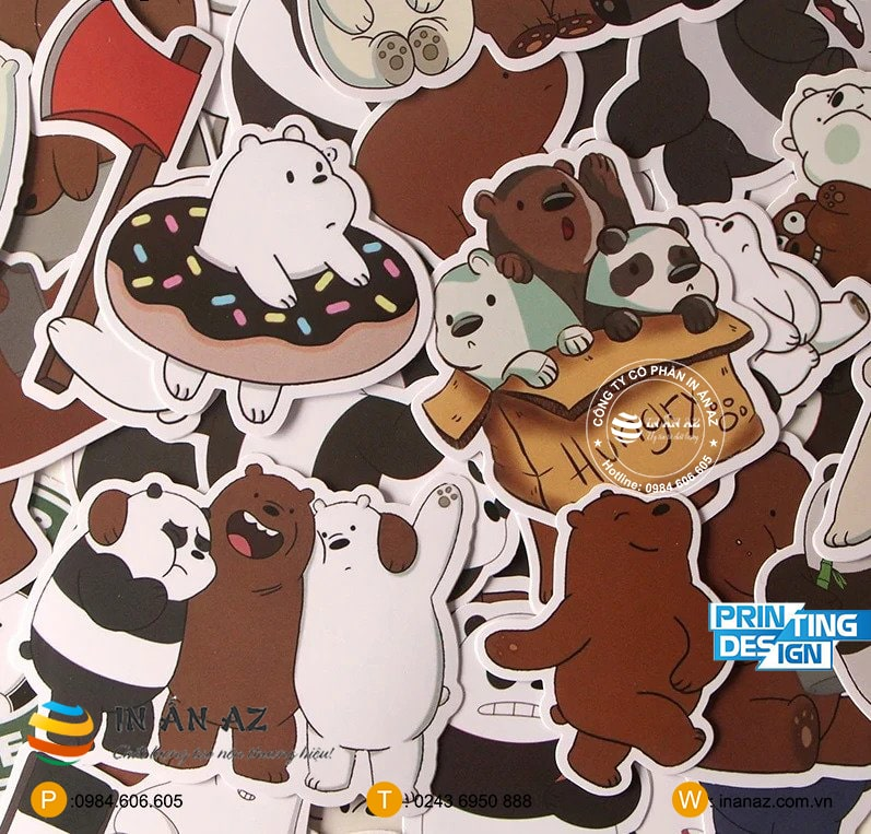 we bare bear sticker