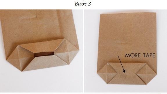 Bước 3- Cách làm túi giấy