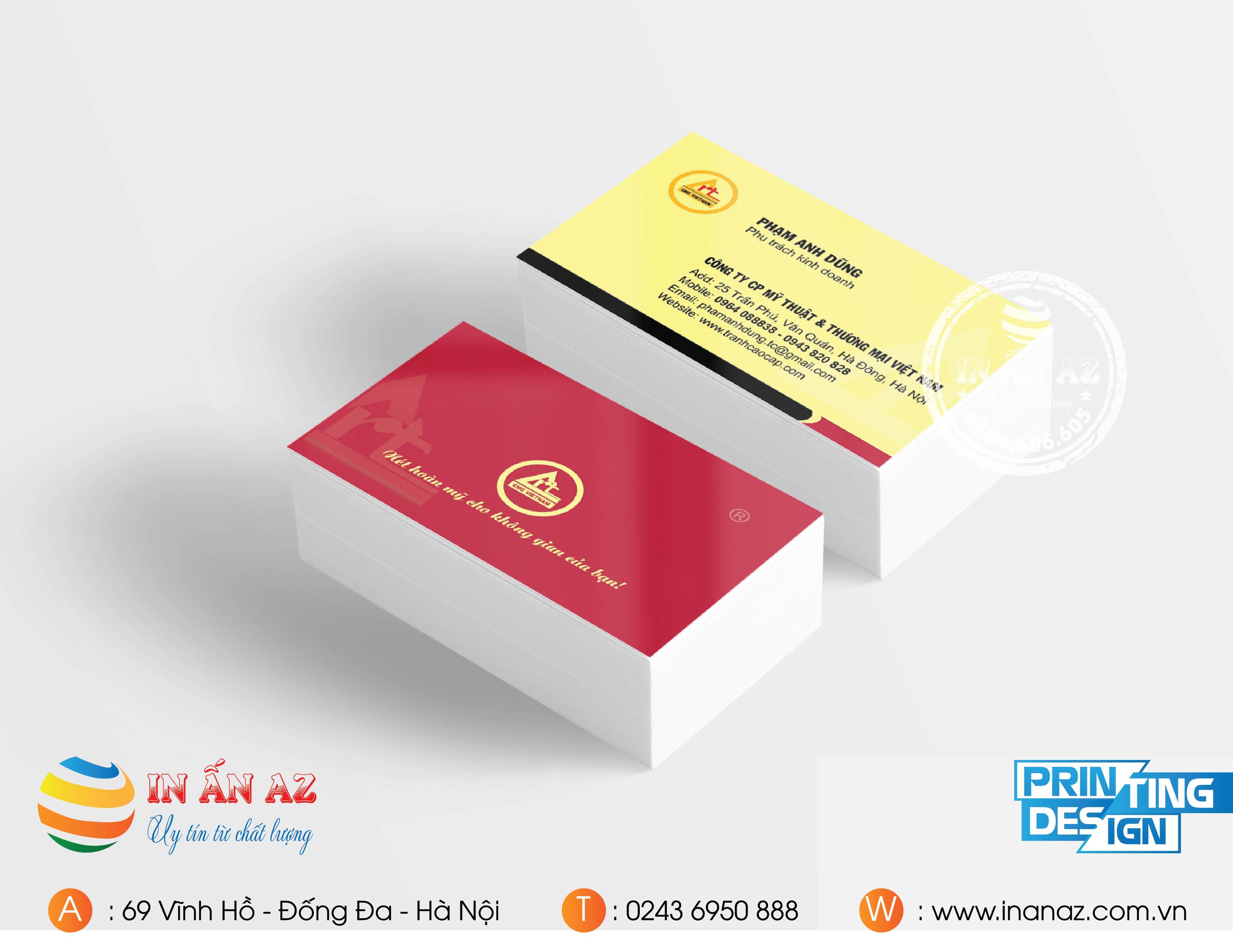 in card visit giá rẻ hà nội