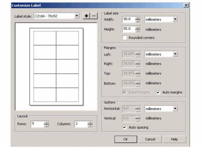 Các bước để tạo bản in card visit corel