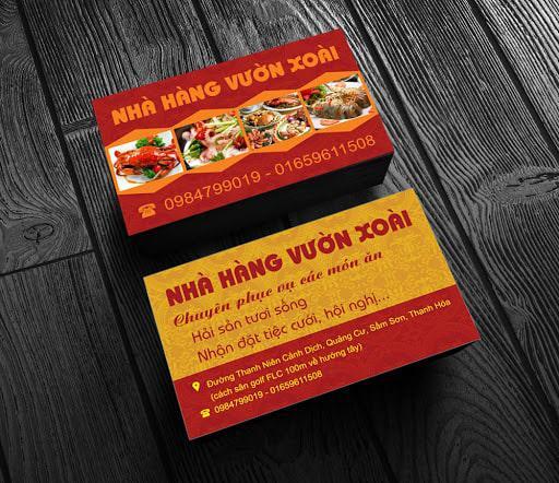 name card nha hang