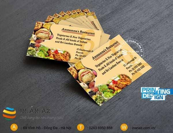 card visit nhà hàng