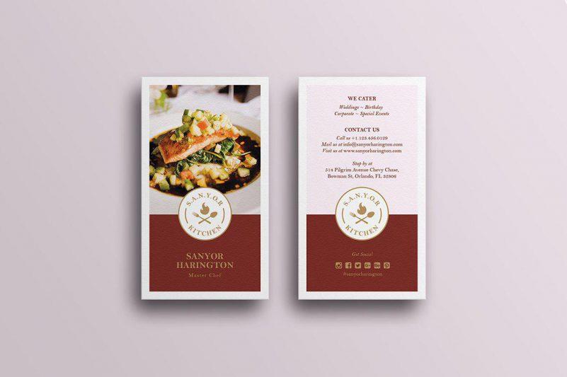 thẻ giấy đồ ăn