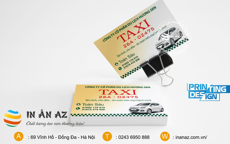 Mẫu card visit taxi đẹp 2