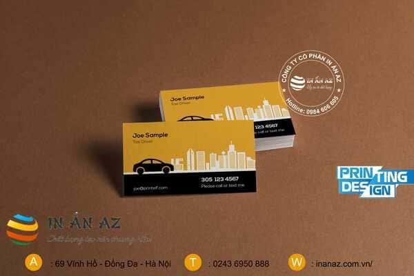 Mẫu card visit taxi đẹp 4