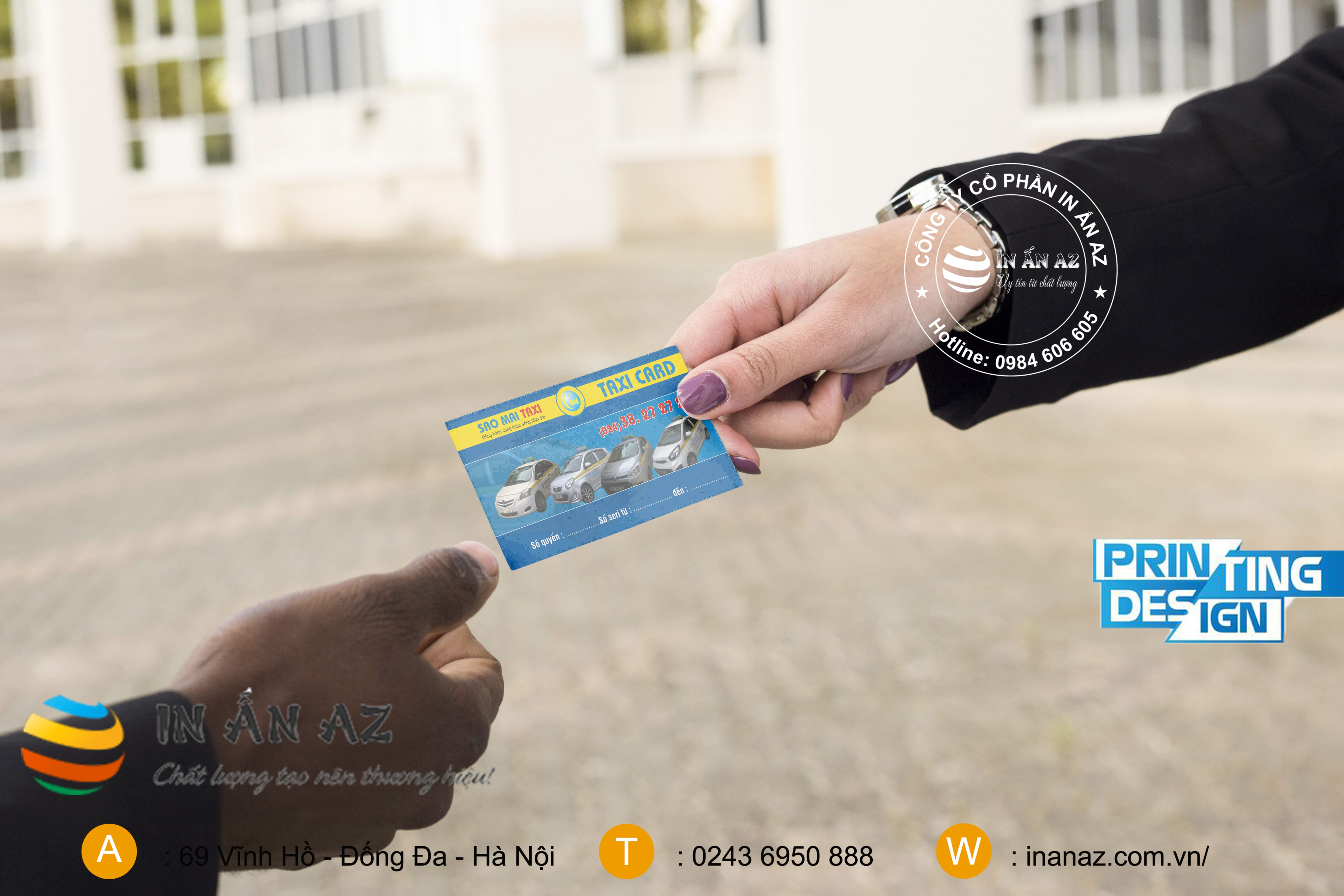 Mẫu card visit taxi đẹp 6