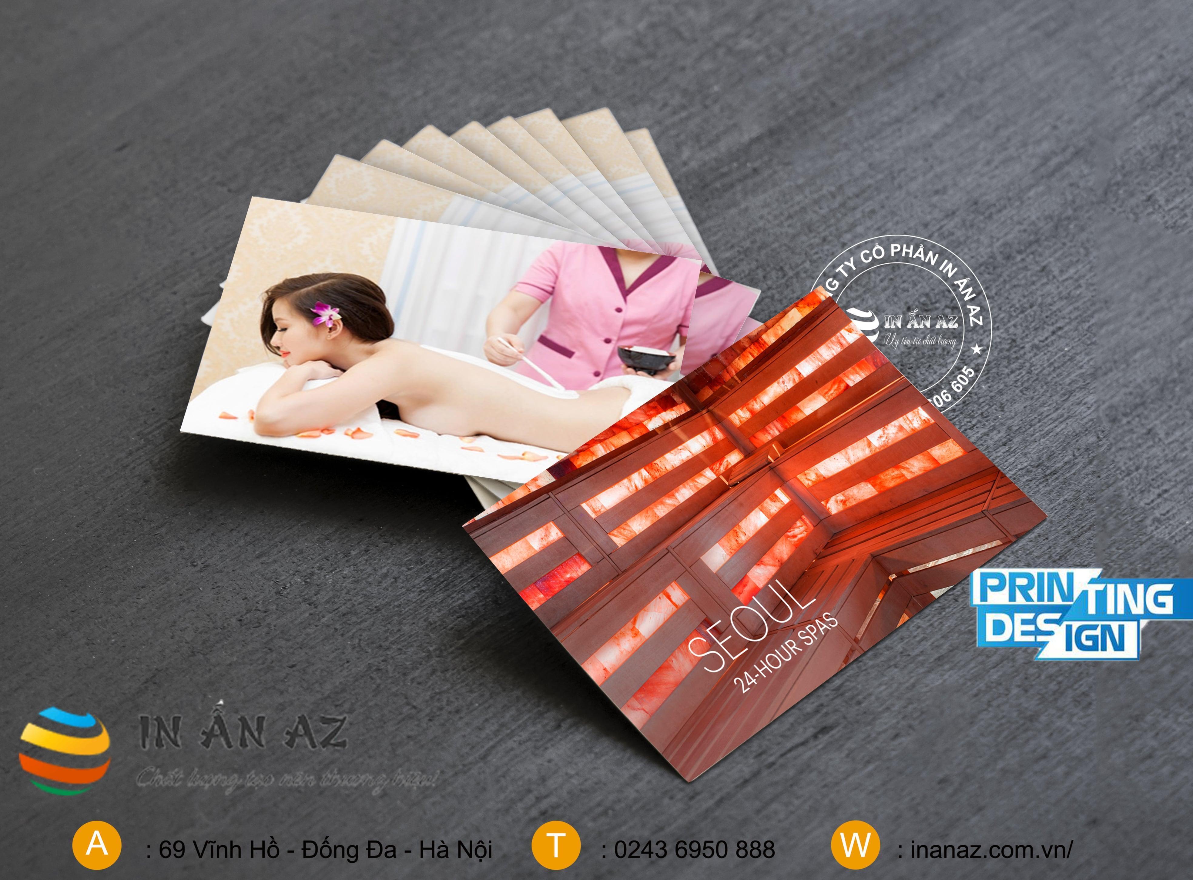 card visit spa, thẩm mỹ