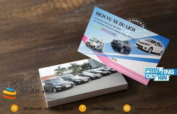 card visit cho thuê xe du lịch