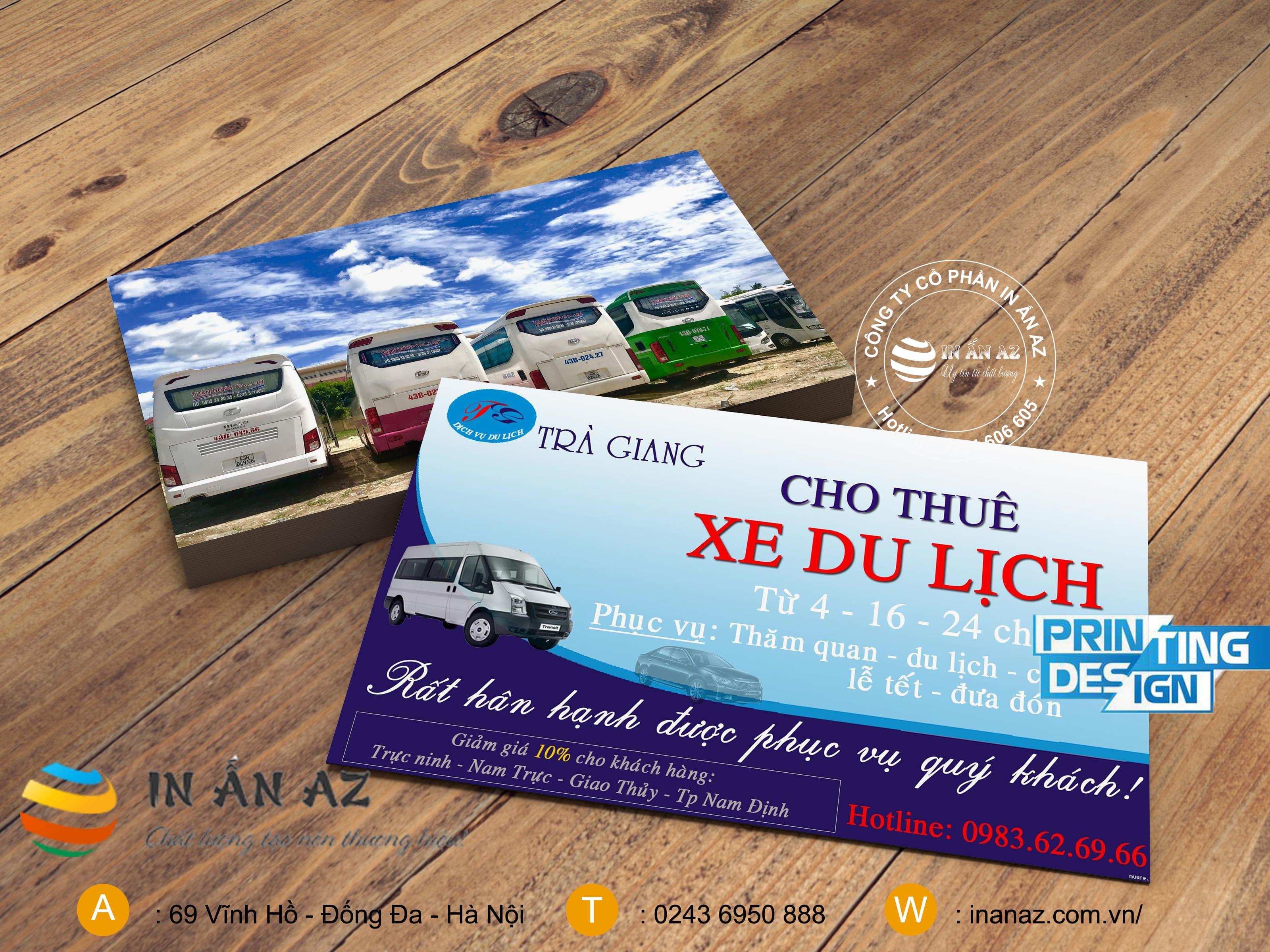 card xe du lịch