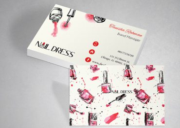 mẫu card visit nail tại in ấn AZ