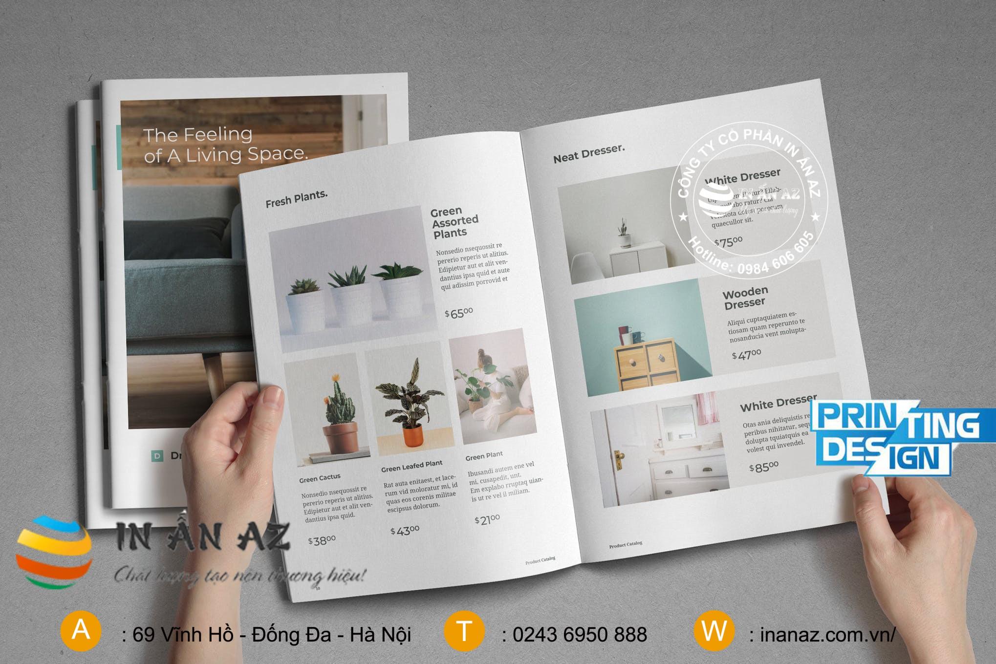 Mẫu catalogue những sản phẩm trang trí trong nhà