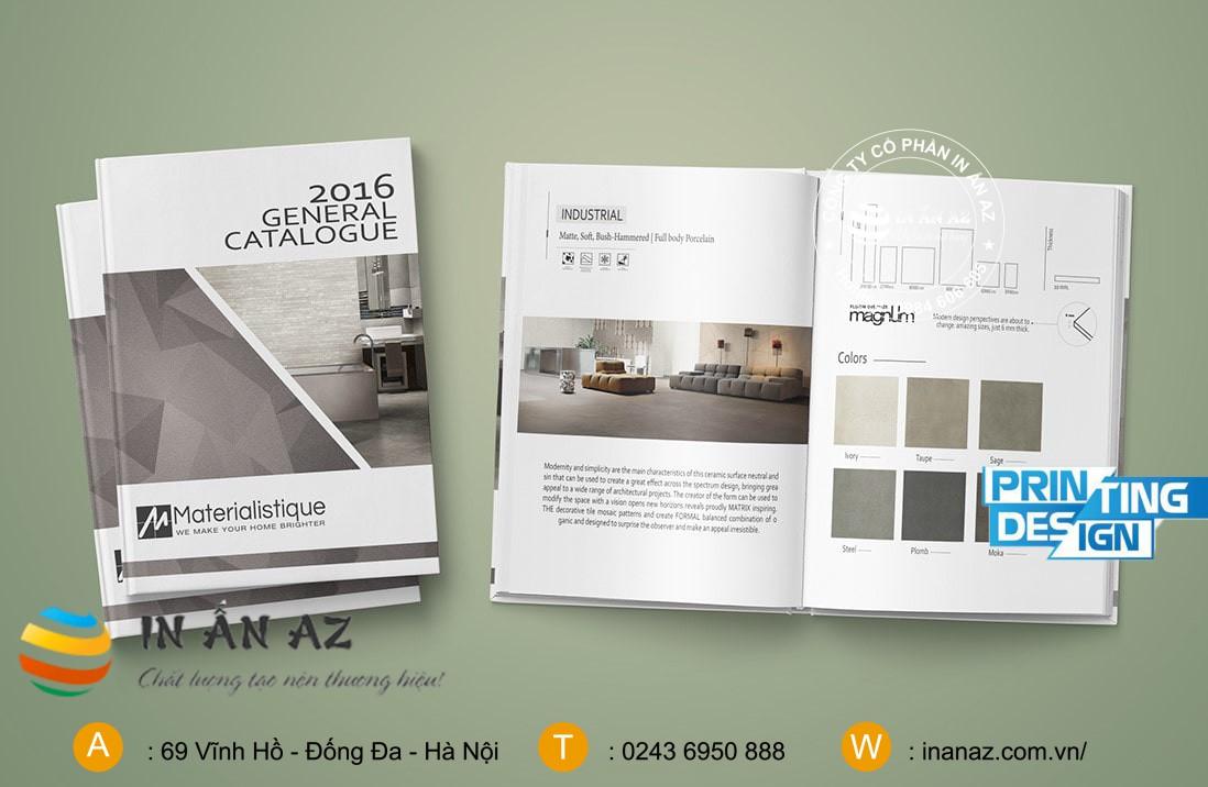 Mẫu catalogue sản phẩm tông màu xám trắng