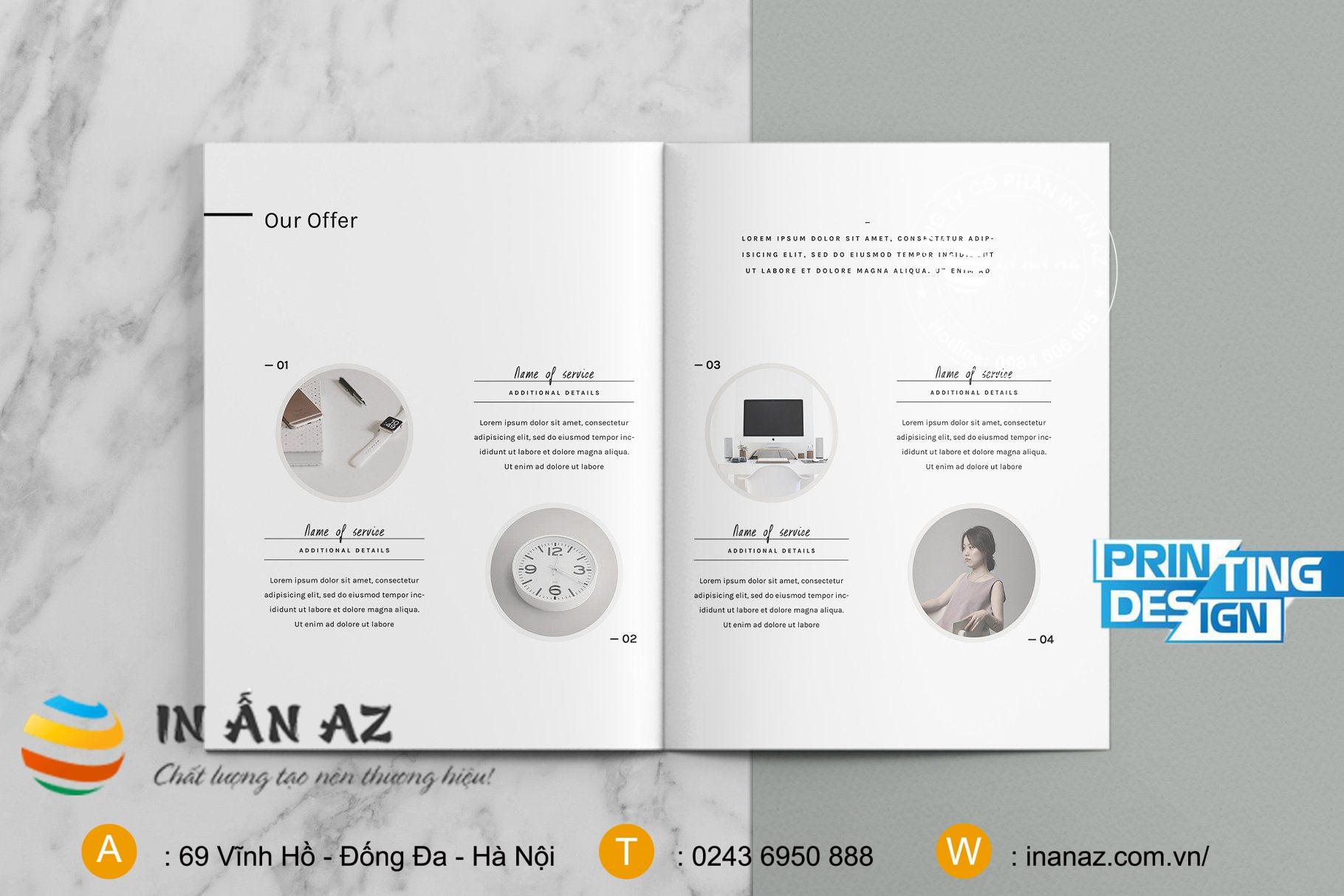 Mẫu catalogue sản phẩm đơn giản, bắt mắt