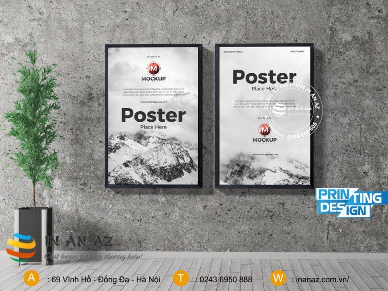 cach dan poster len tuong