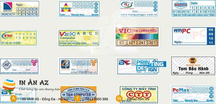 chọn máy in tem bảo hành nào