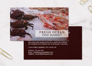 Mẫu card visit hải sản