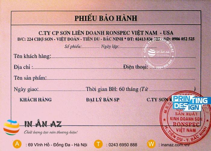 phieu bao hanh dien thoai dep 1