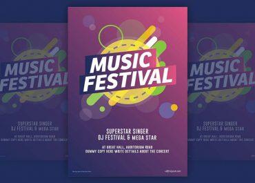 Poster lễ hội âm nhạc