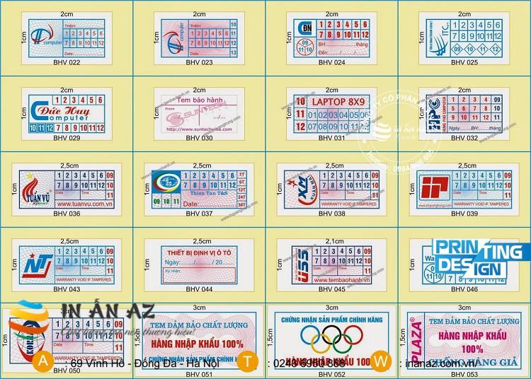 cấu tạo của tem bảo hành